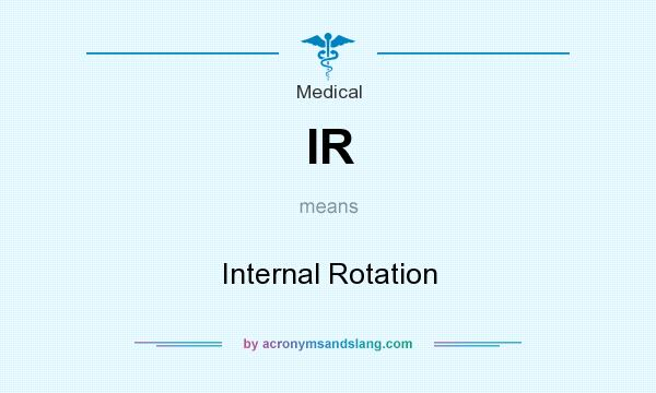 What does IR mean? It stands for Internal Rotation