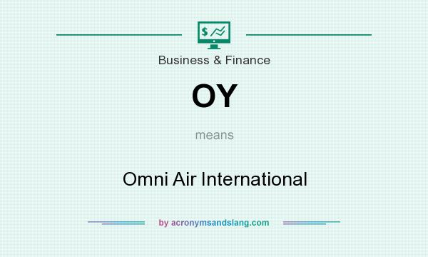 What does OY mean? It stands for Omni Air International