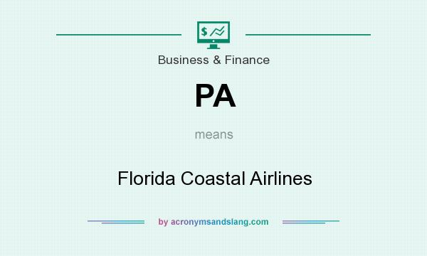 What does PA mean? It stands for Florida Coastal Airlines