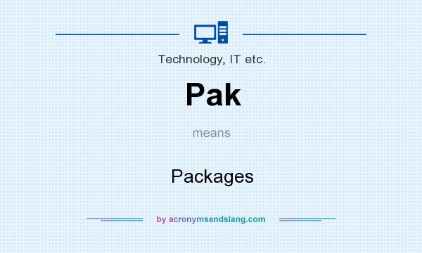 What does Pak mean? It stands for Packages