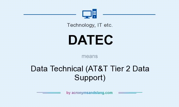 What does DATEC mean? It stands for Data Technical (AT&T Tier 2 Data Support)