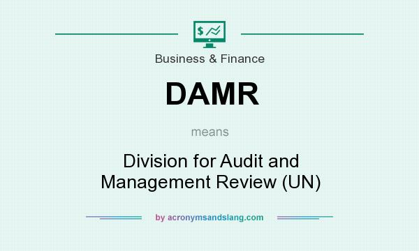 What does DAMR mean? It stands for Division for Audit and Management Review (UN)
