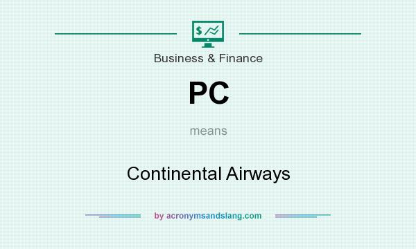 What does PC mean? It stands for Continental Airways