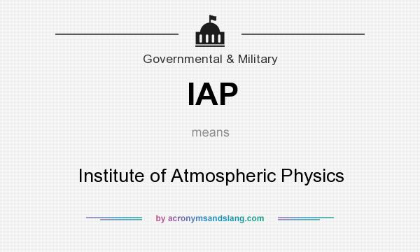 What does IAP mean? It stands for Institute of Atmospheric Physics