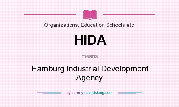 What does HIDA mean? It stands for Hamburg Industrial Development Agency