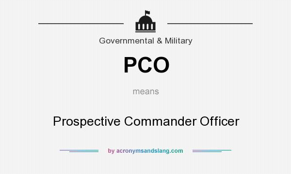 What does PCO mean? It stands for Prospective Commander Officer