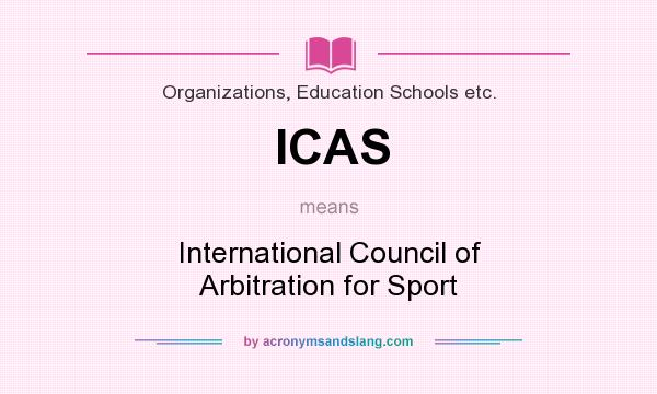 ICAS - International Council of Arbitration for Sport in