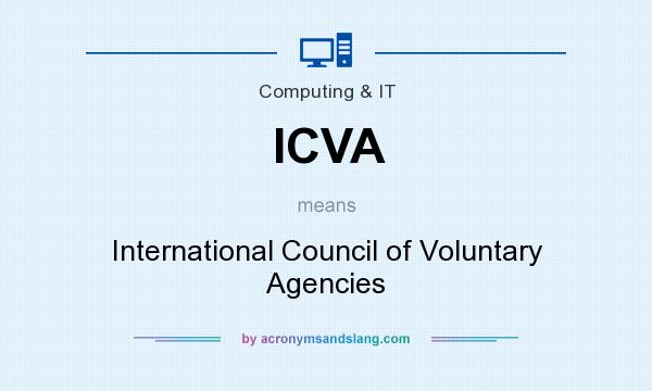What does ICVA mean? It stands for International Council of Voluntary Agencies