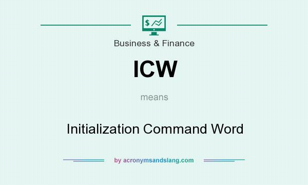What does ICW mean? It stands for Initialization Command Word