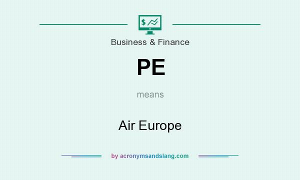 What does PE mean? It stands for Air Europe
