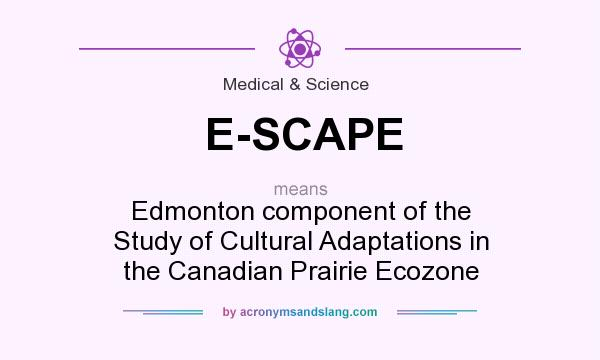 What does E-SCAPE mean? It stands for Edmonton component of the Study of Cultural Adaptations in the Canadian Prairie Ecozone