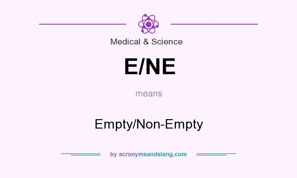 What does E/NE mean? It stands for Empty/Non-Empty