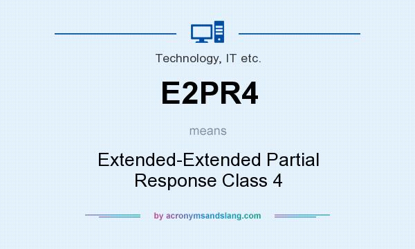 What does E2PR4 mean? It stands for Extended-Extended Partial Response Class 4
