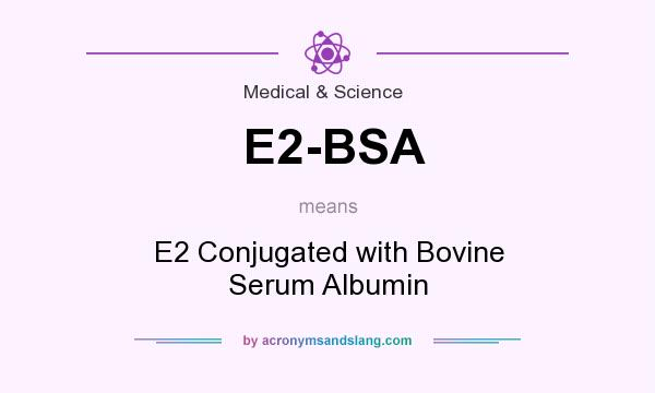 What does E2-BSA mean? It stands for E2 Conjugated with Bovine Serum Albumin