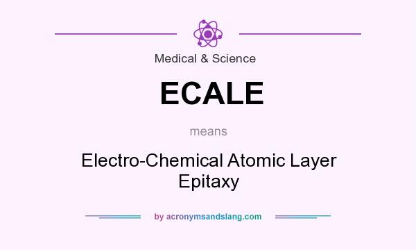 What does ECALE mean? It stands for Electro-Chemical Atomic Layer Epitaxy