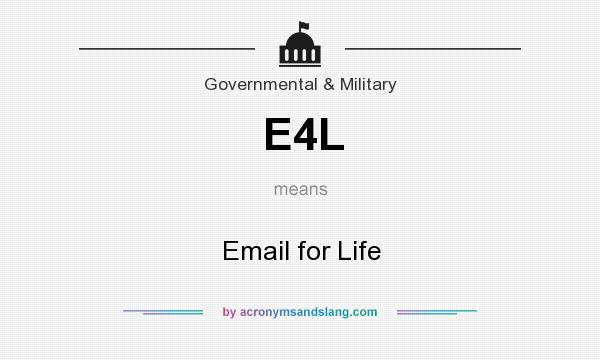 What does E4L mean? It stands for Email for Life