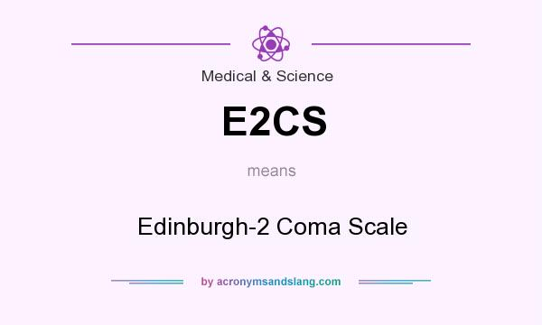 What does E2CS mean? It stands for Edinburgh-2 Coma Scale