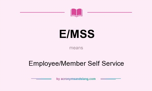 What does E/MSS mean? It stands for Employee/Member Self Service