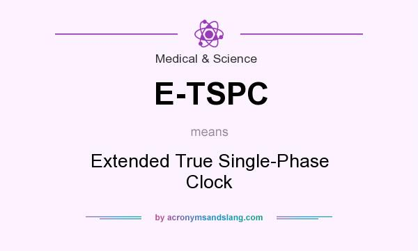 What does E-TSPC mean? It stands for Extended True Single-Phase Clock