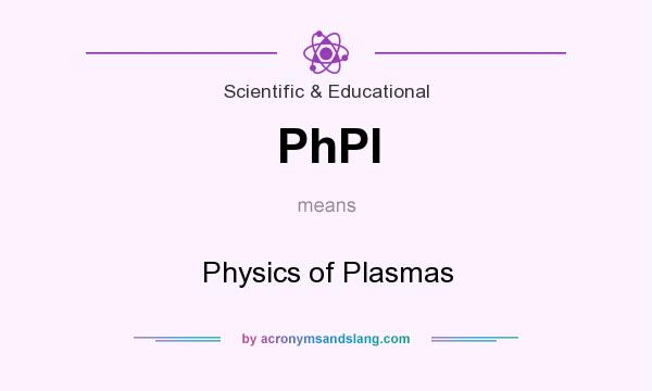 What does PhPl mean? It stands for Physics of Plasmas