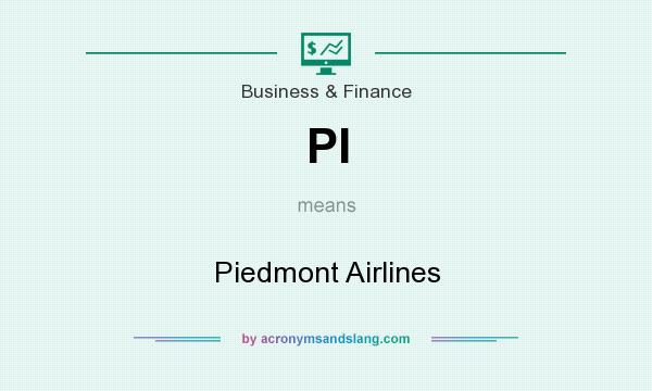 What does PI mean? It stands for Piedmont Airlines