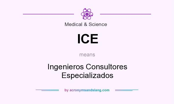 What does ICE mean? It stands for Ingenieros Consultores Especializados