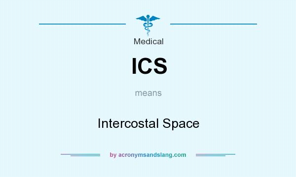 What does ICS mean? It stands for Intercostal Space