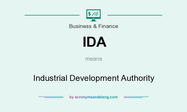 What does IDA mean? It stands for Industrial Development Authority