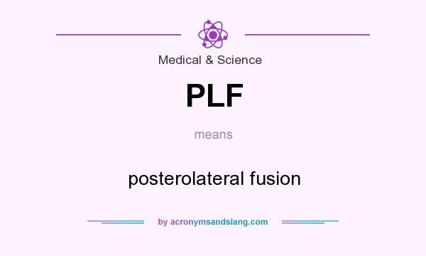 What does PLF mean? It stands for posterolateral fusion