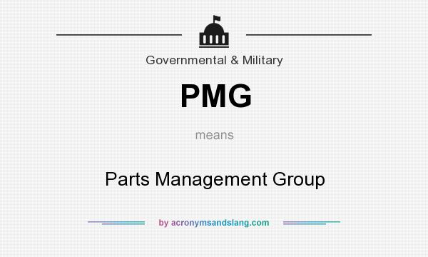 What does PMG mean? It stands for Parts Management Group