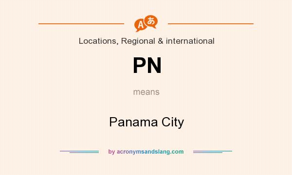 What does PN mean? It stands for Panama City