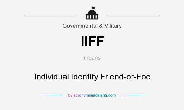 What does IIFF mean? It stands for Individual Identify Friend-or-Foe