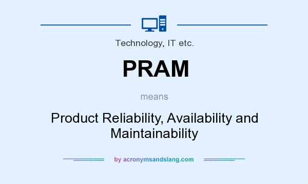 What does PRAM mean? It stands for Product Reliability, Availability and Maintainability