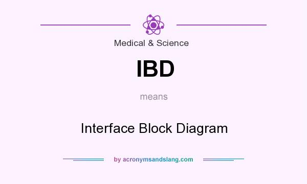 What does IBD mean? It stands for Interface Block Diagram