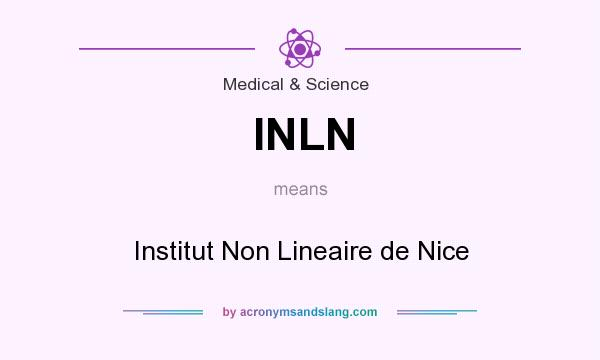 What does INLN mean? It stands for Institut Non Lineaire de Nice