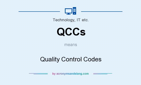 What does QCCs mean? It stands for Quality Control Codes