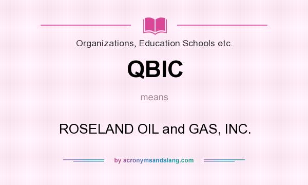 What does QBIC mean? It stands for ROSELAND OIL and GAS, INC.