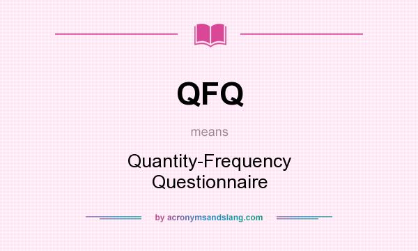 All QFQ meanings.
