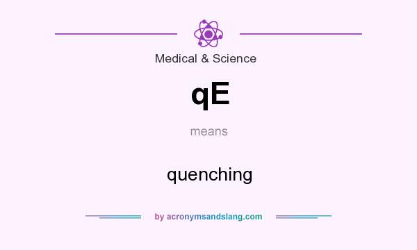 What does qE mean? It stands for quenching