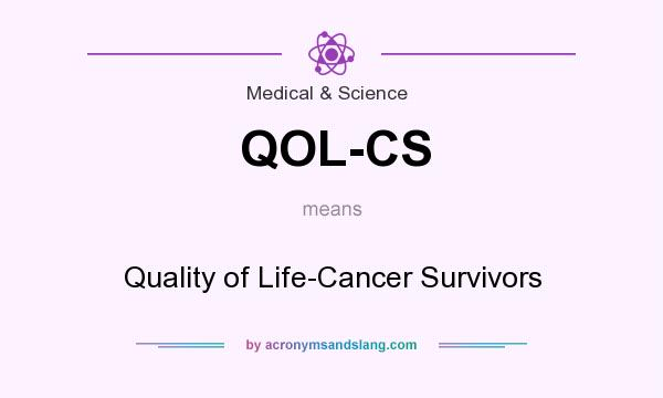 What does QOL-CS mean? It stands for Quality of Life-Cancer Survivors