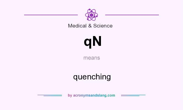 What does qN mean? It stands for quenching