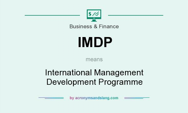 What does IMDP mean? It stands for International Management Development Programme