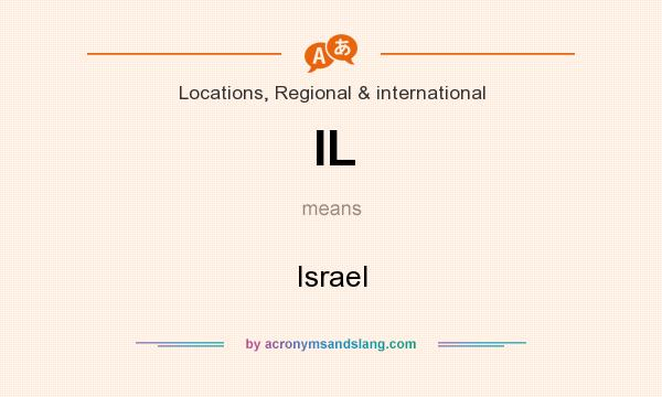 What does IL mean? It stands for Israel