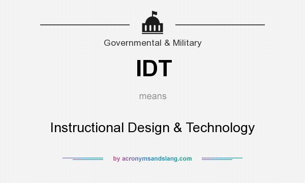 Idt Instructional Design Technology By Acronymsandslang Com