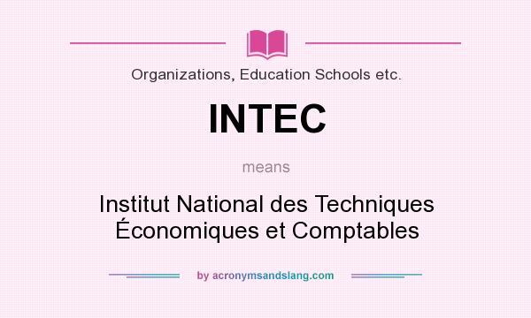 What does INTEC mean? It stands for Institut National des Techniques Économiques et Comptables