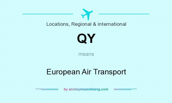 What does QY mean? It stands for European Air Transport