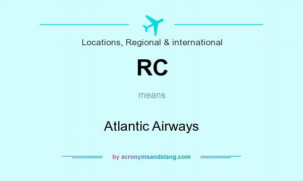 What does RC mean? It stands for Atlantic Airways