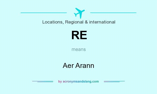 What does RE mean? It stands for Aer Arann