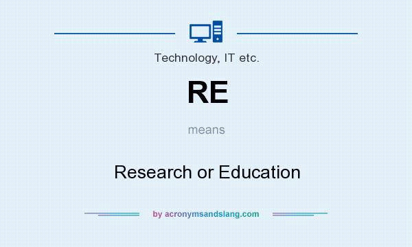 What does RE mean? It stands for Research or Education
