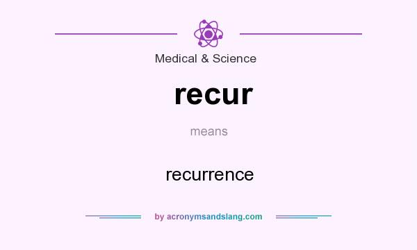 What does recur mean? It stands for recurrence